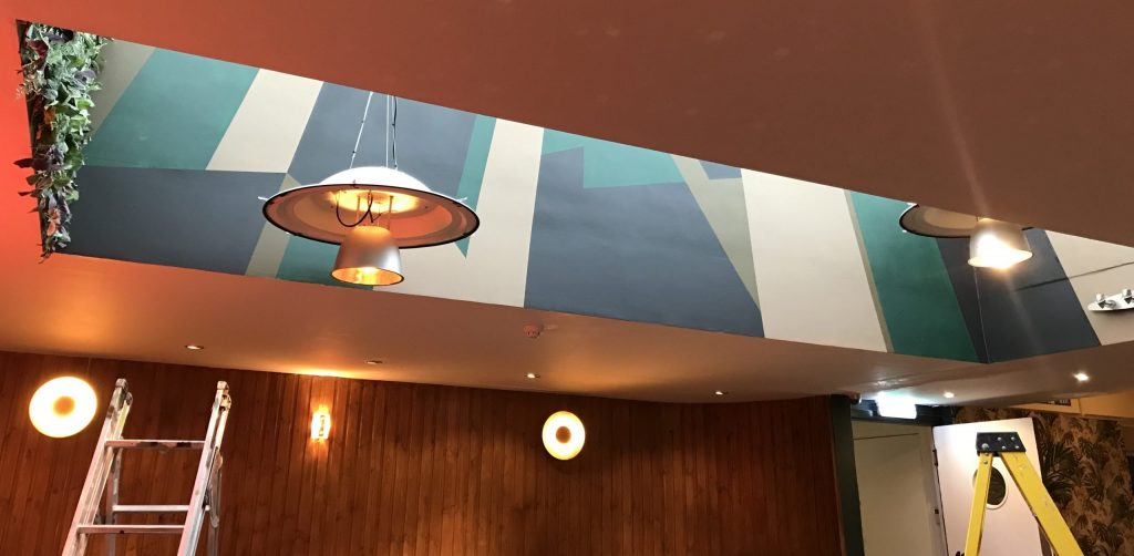 restaurant interiors mural