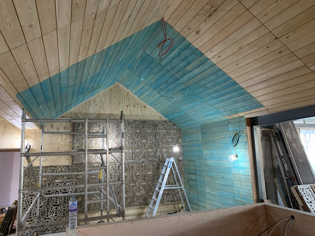 apex ceiling colour stain