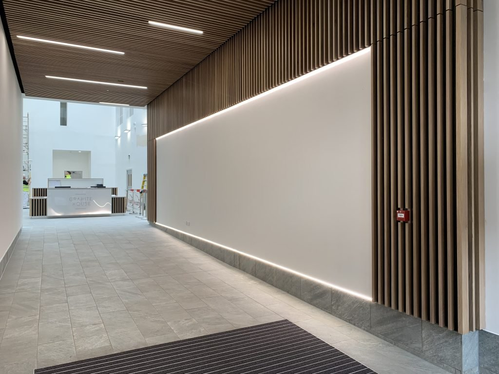Commercial building foyer