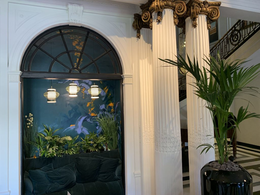 hotel interiors mural art