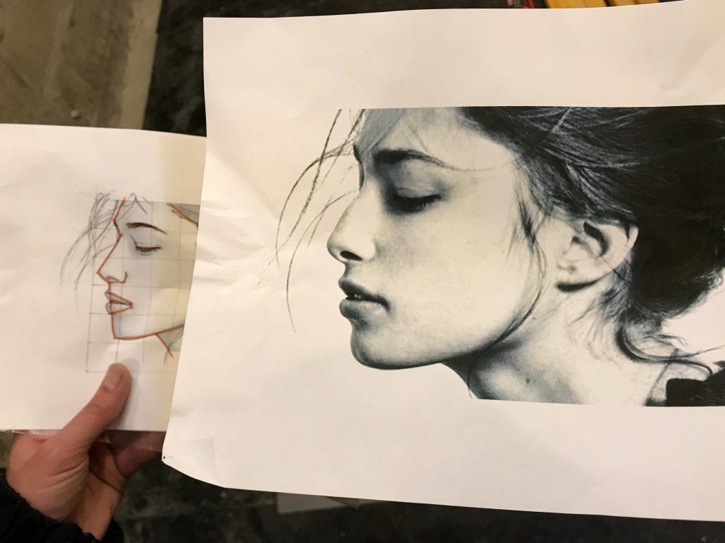 photo realism art process