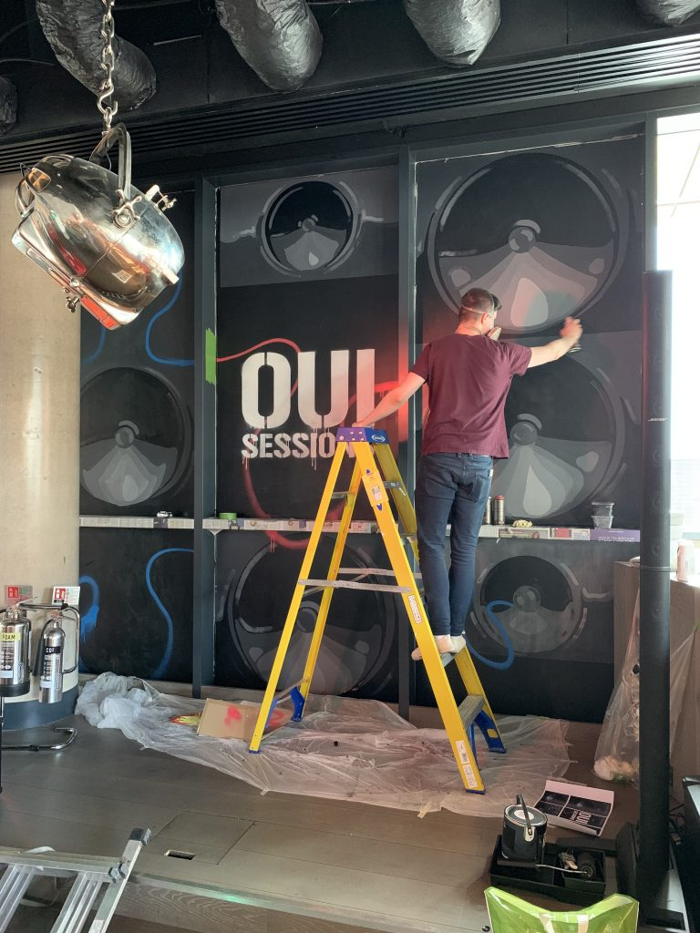 oui sessions mural Radisson RED