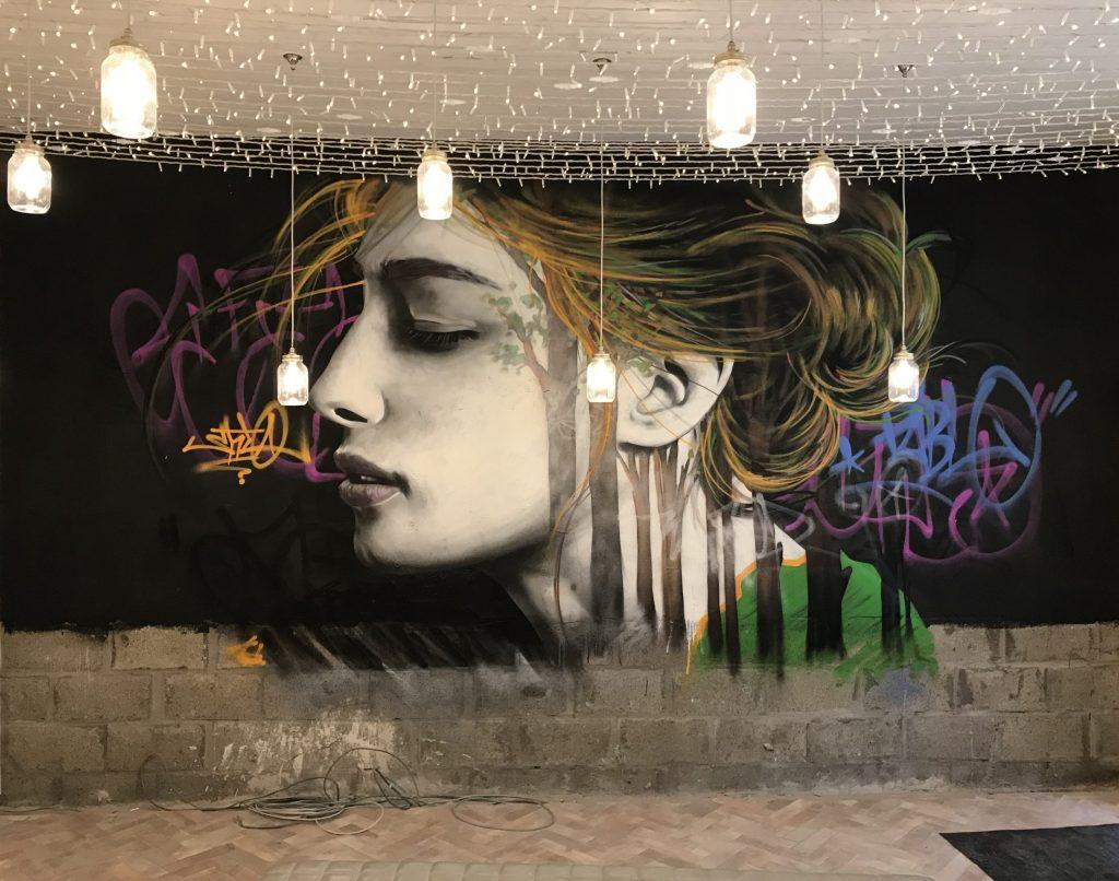 female mural Ashton lane Glasgow