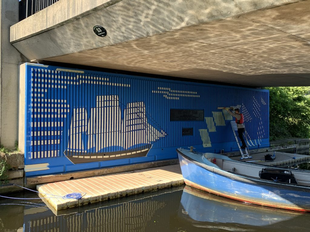 Maryhill canal mural