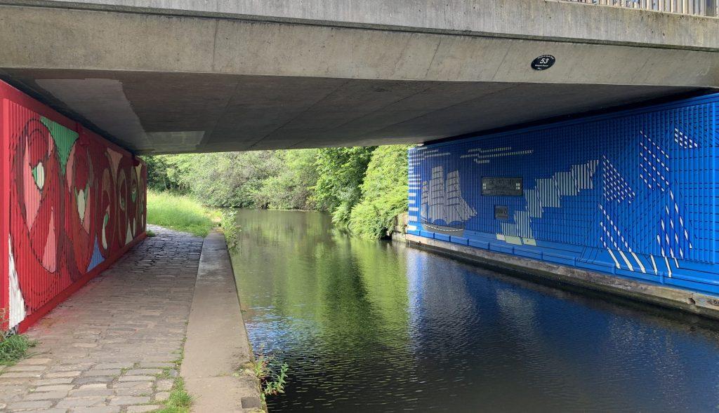 Glasgow canal street art