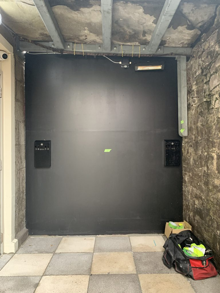 blank wall before the art