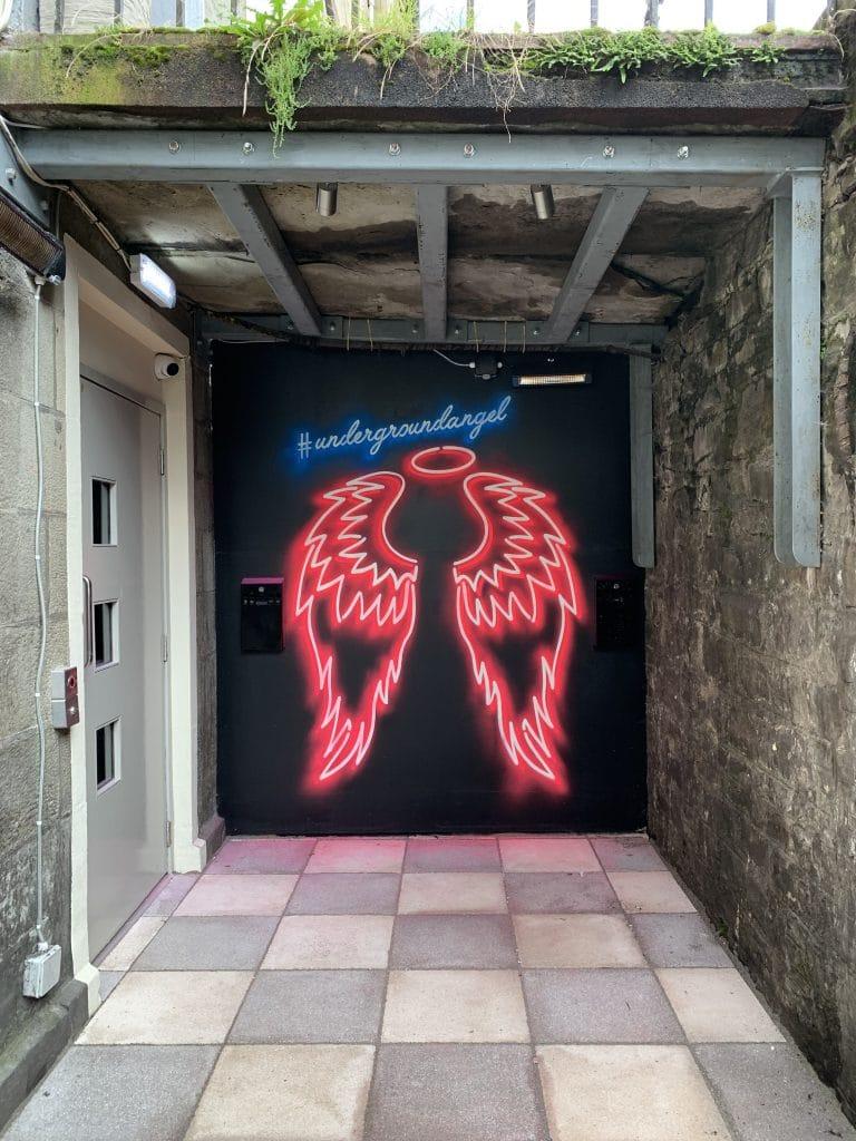 underground angel mural