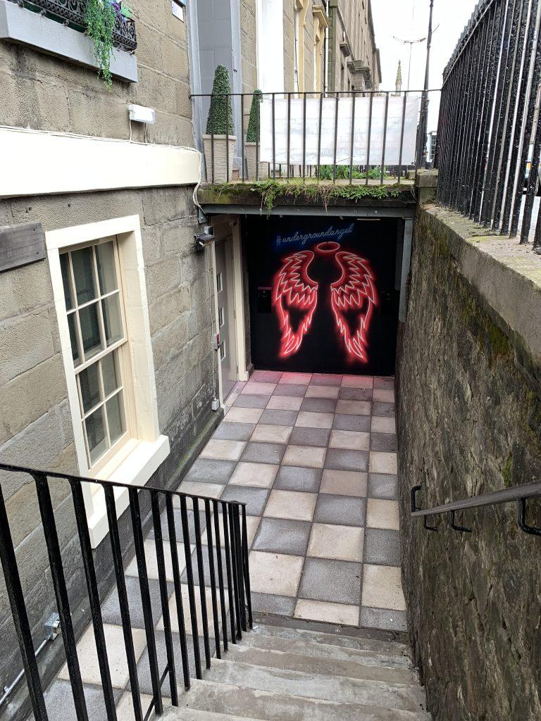 underground angel street art