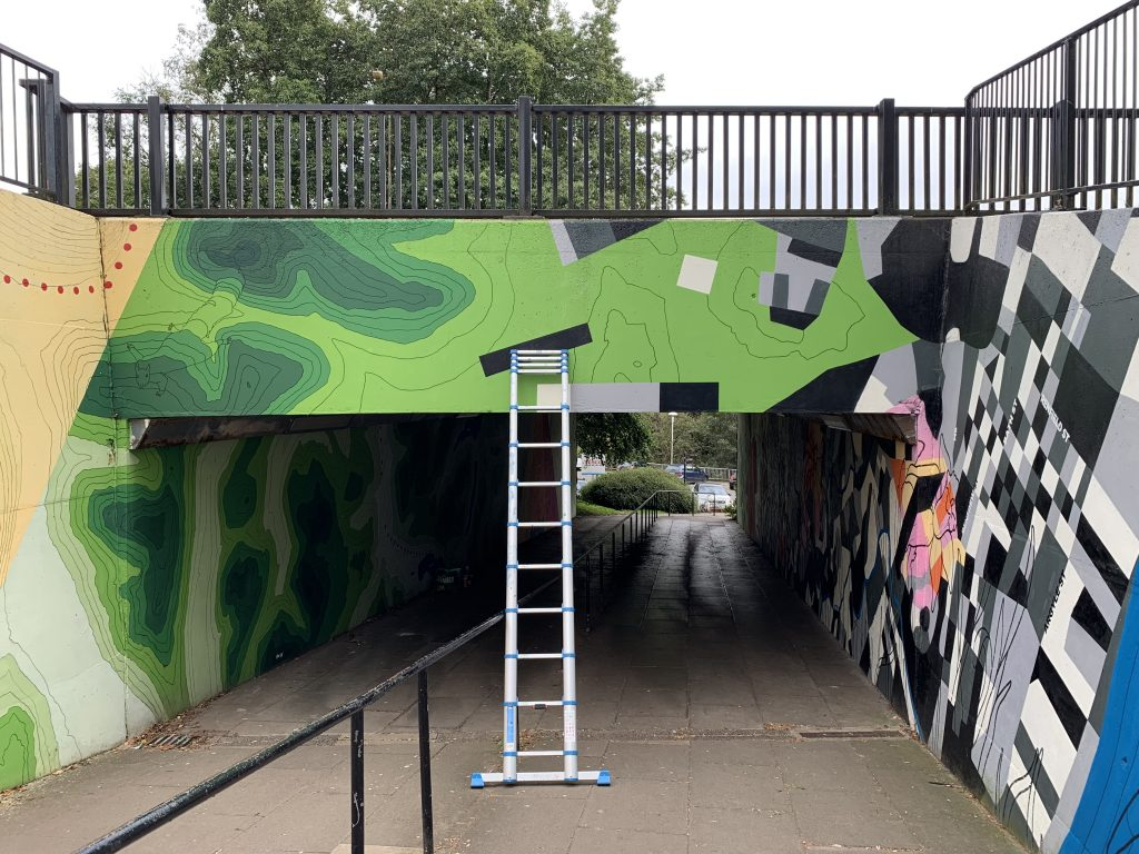 underpass map mural Milngavie