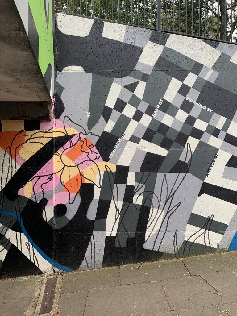 interpretive map mural