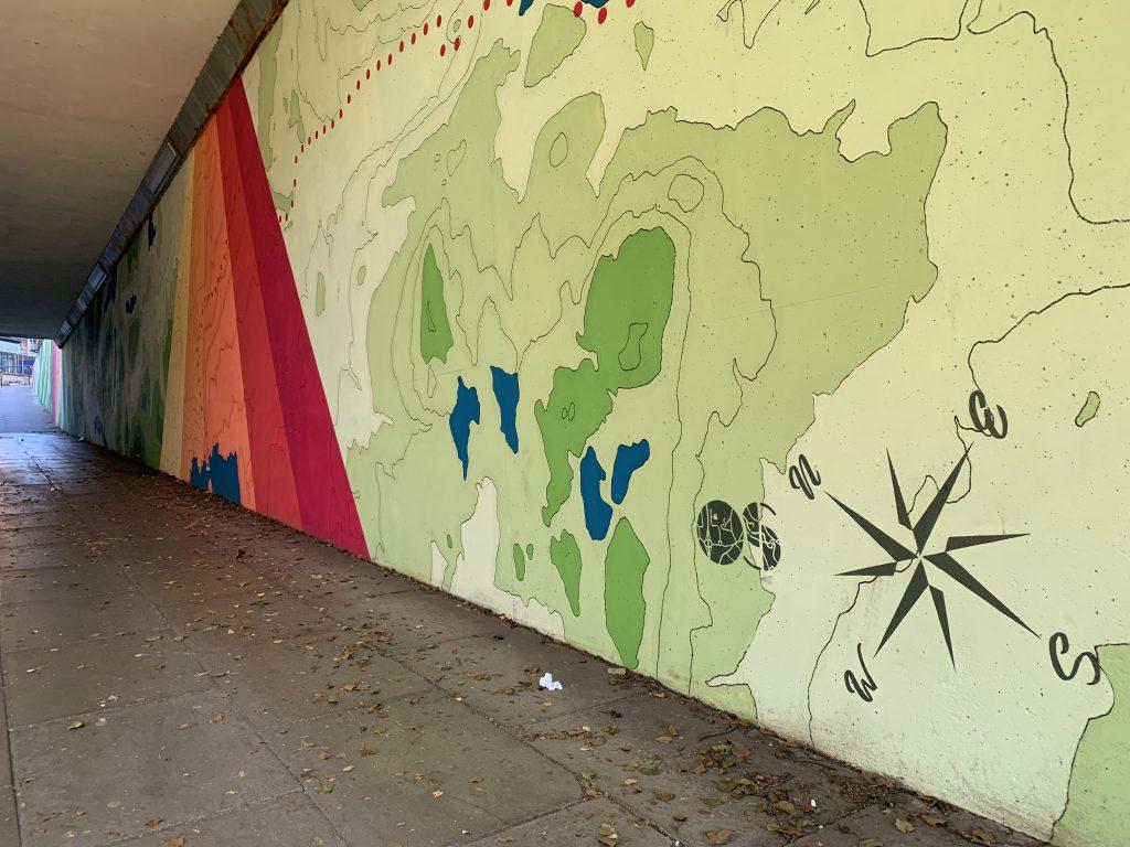 Ordnance Survey mural