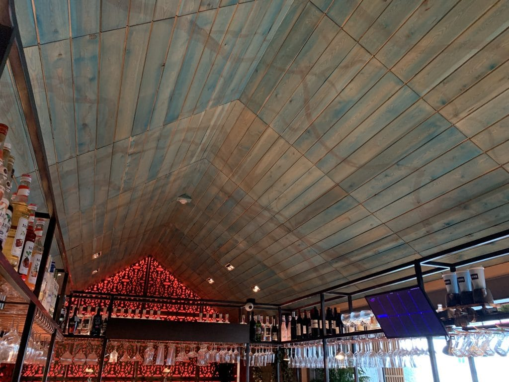 vine ceiling artwork