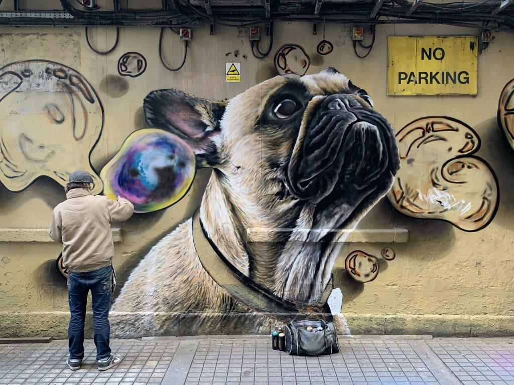 dog mural Renfield Lane Glasgow