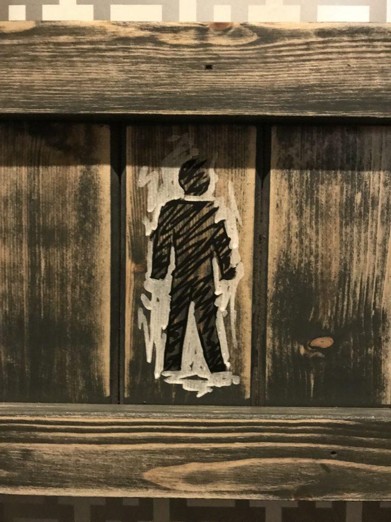 toilet signage art