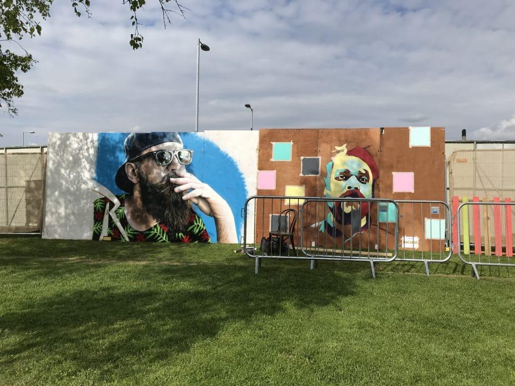 street art on boards