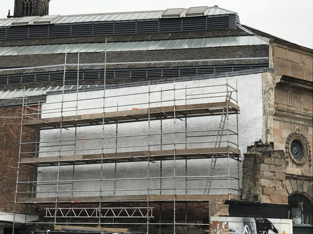 scaffold for mural