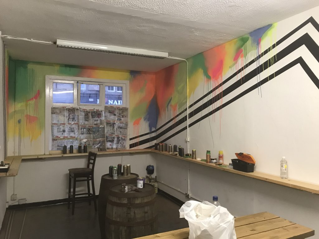 Pop up bar mural Glasgow