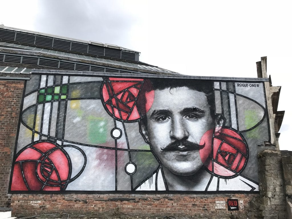 Charles Rennie Mackintosh mural Glasgow