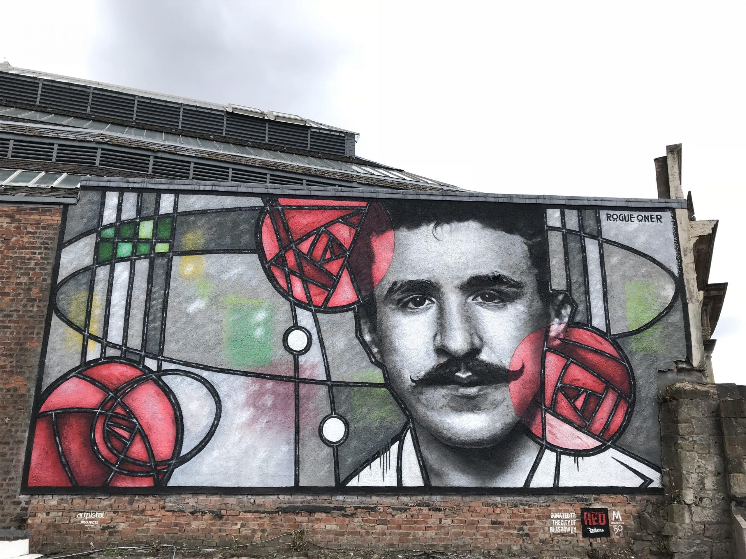 Charles Rennie Mackintosh mural Glasgow