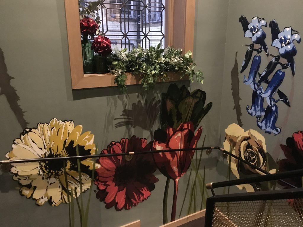 Grand Cafe flower mural