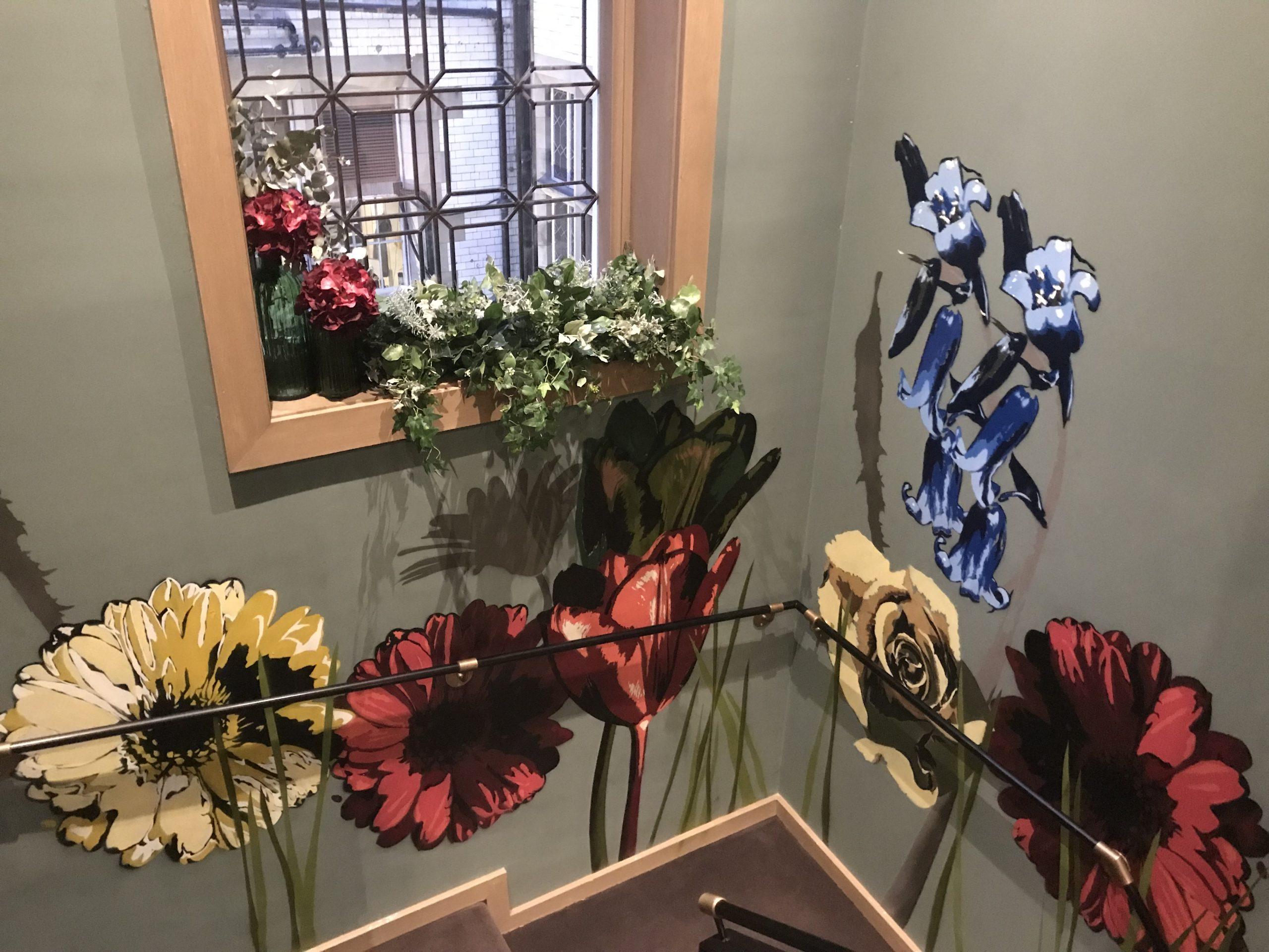 Scotsman flower mural