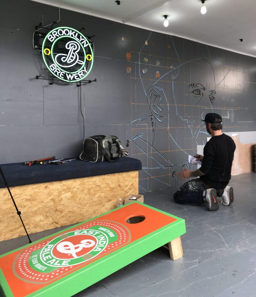 Vice Brooklyn Lager mural BAaD