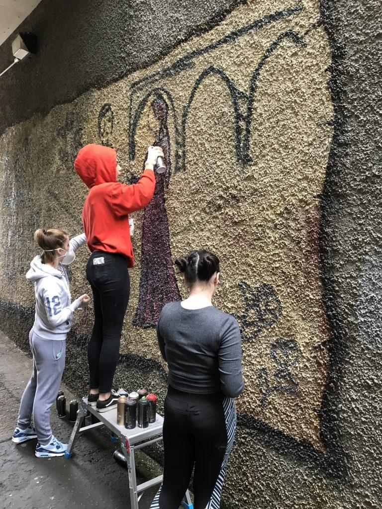 kid street art project New Lanark