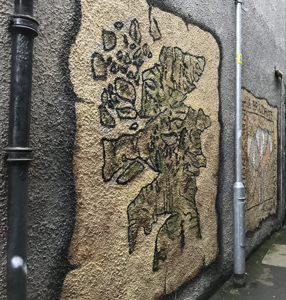 old Scotland map mural