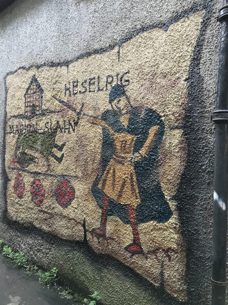 Heselrig mural Lanark