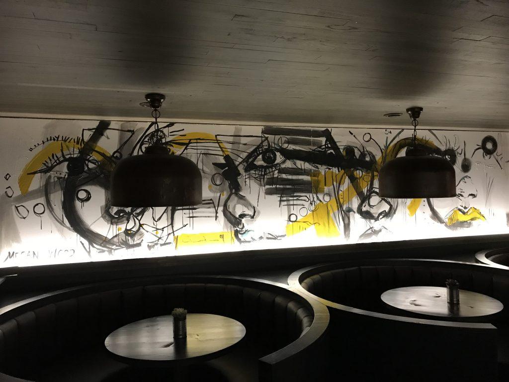 abstract art interior mural