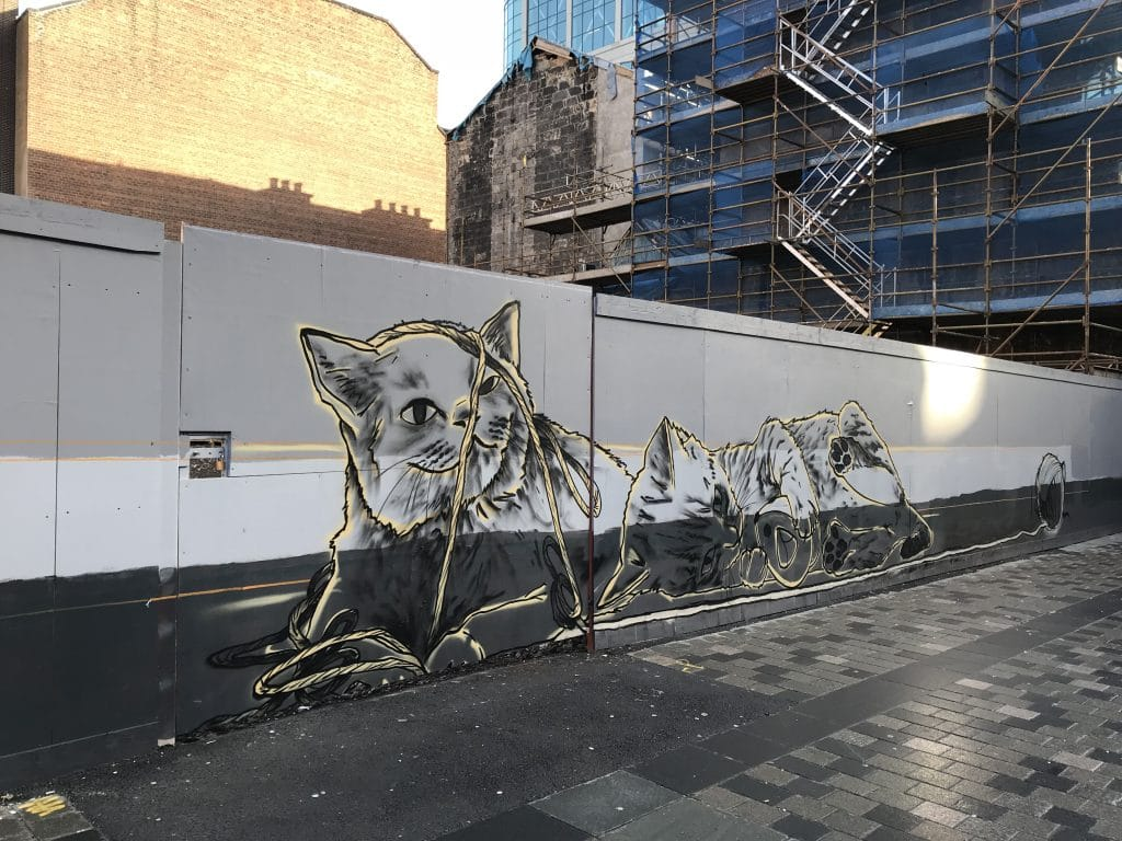 cats mural Glasgow