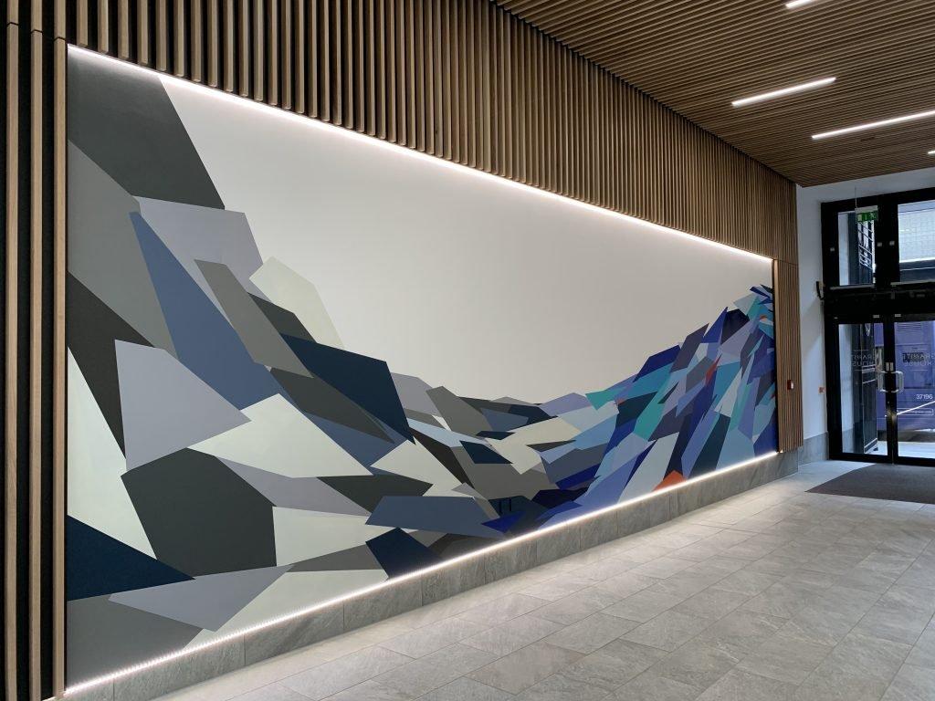 Granite House foyer mural