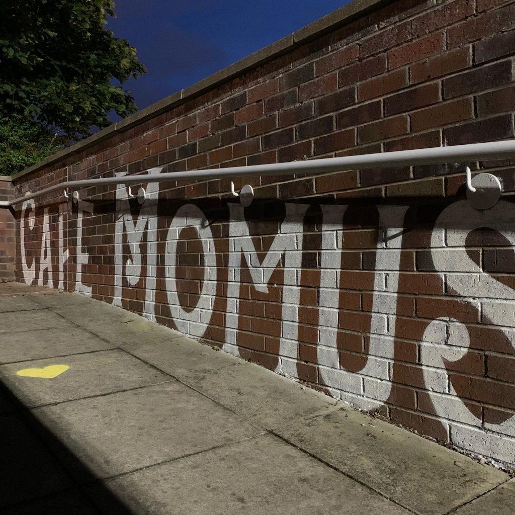 Cafe Momus street art