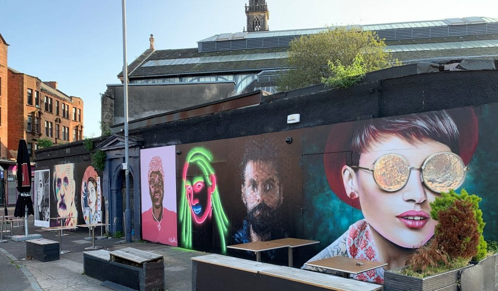 The Clutha Portraits Street Art